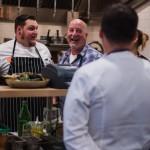 Chef Mark Stark (plaid shirt) & crew